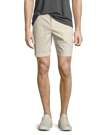 Burberry Tailored Cotton Chino Shorts, Stone