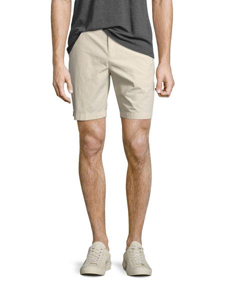 Tailored Cotton Chino Shorts, Stone