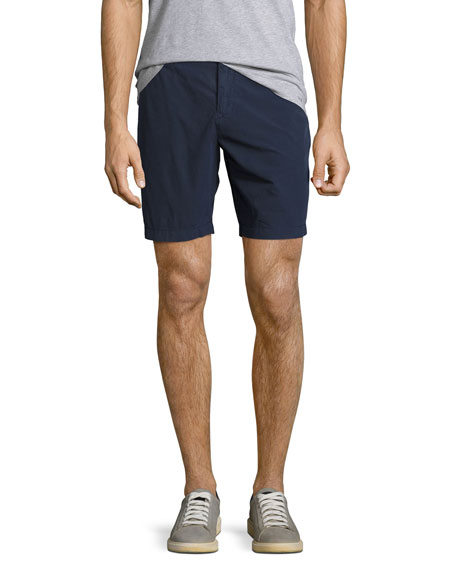 Burberry Tailored Cotton Chino Shorts, Indigo