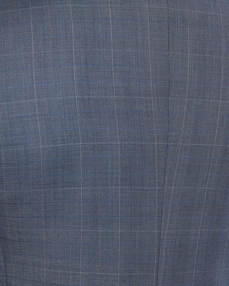 Wellar Camley Windowpane Wool Suit Jacket