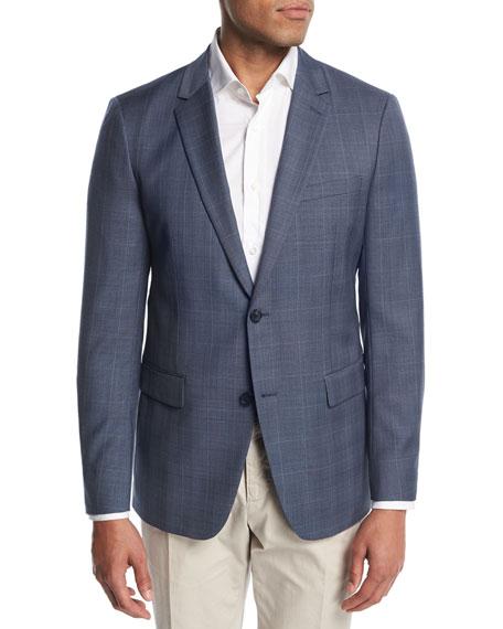 Theory Wellar Camley Windowpane Wool Suit Jacket