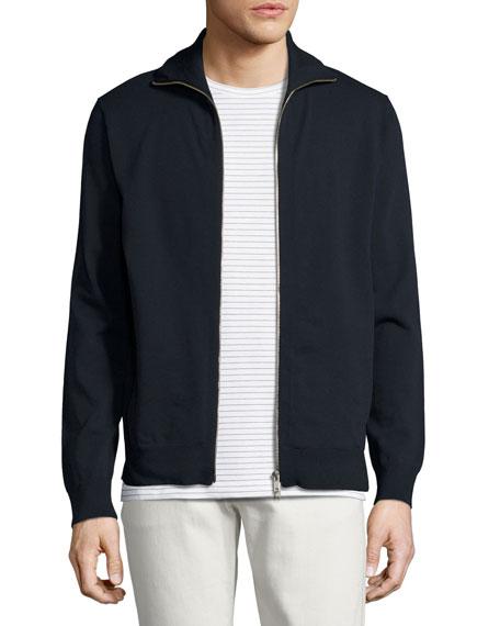 Theory Kampers SFZ Neofil Front-Zip Jacket, Navy