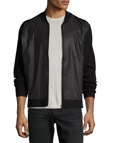 Salleg FZ Fine Bilen Mixed-Media Jacket, Black