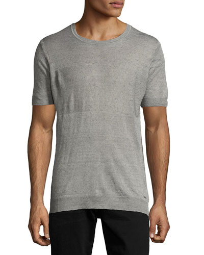 K-Leo Ribbed T-Shirt, Gray