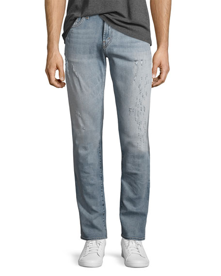 J Brand Tyler Distressed Slim-Fit Jeans, Hawking
