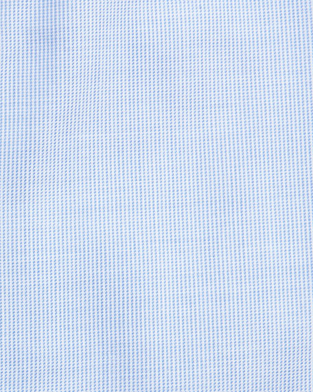 Micro-Neat Dress Shirt, Light Blue