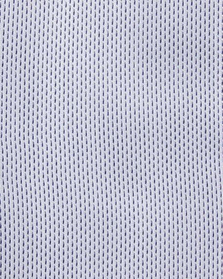 Textured Dress Shirt, Navy/White