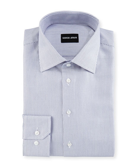Textured Dress Shirt, Navy/White