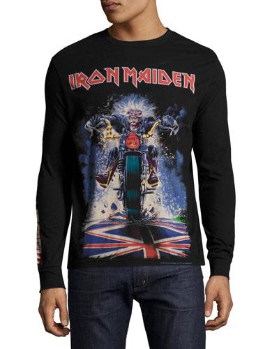 Iron Maiden Long-Sleeve T-Shirt, Black