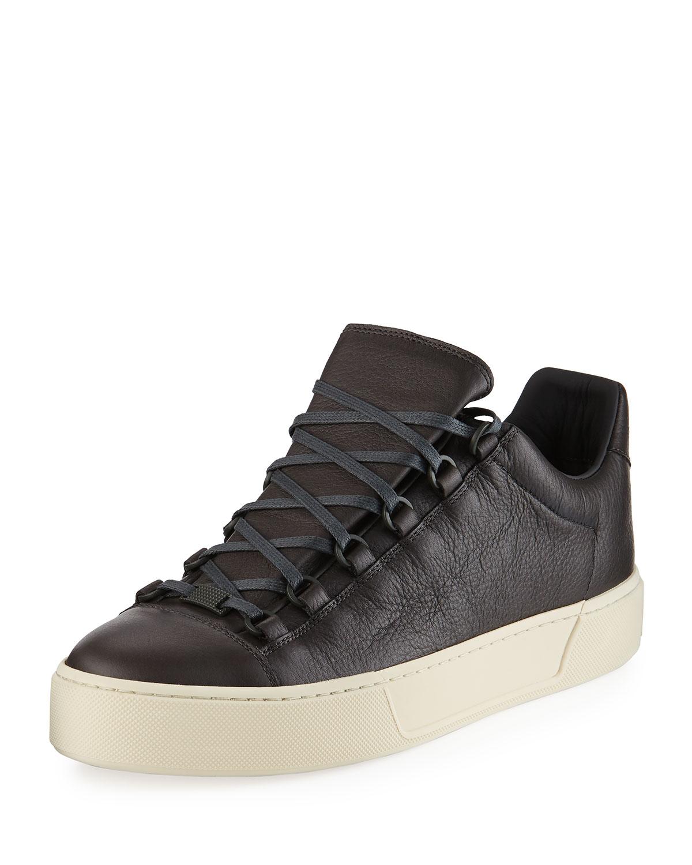 6a194e92aa18d Balenciaga Men s New Arena Leather Low-Top Sneaker