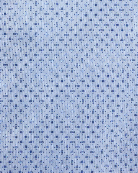 Micro-Print Dress Shirt, French Blue