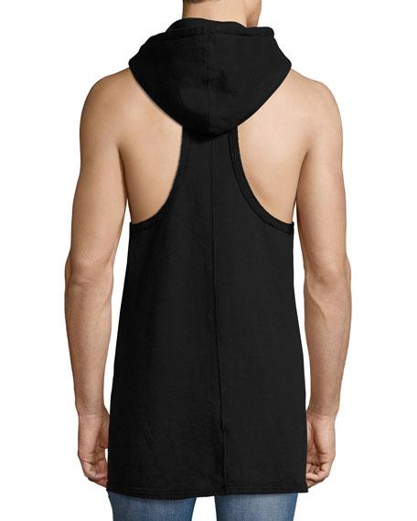 Sleeveless Pullover Hoodie, Black