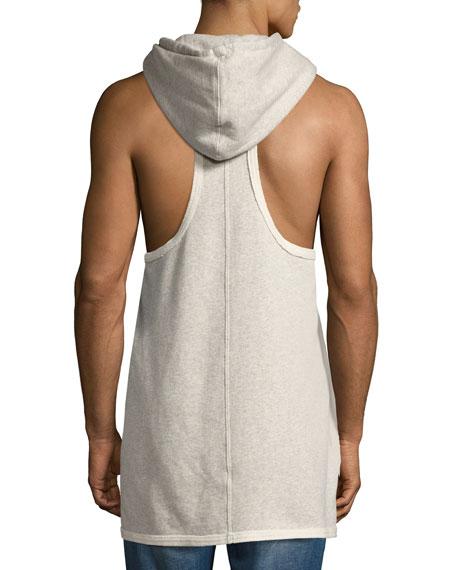 Men's Sleeveless Pullover Hoodie, Gray