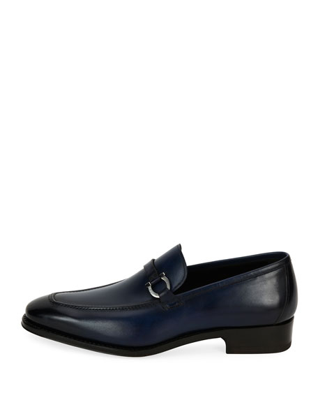 Men's Tramezza Gancini-Bit Loafer, Blue