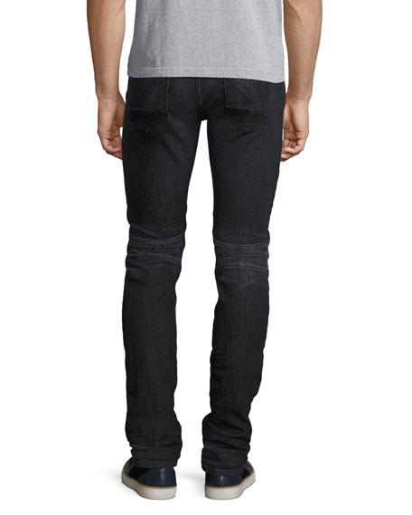Blinder Biker Skinny Jeans, Faded Black