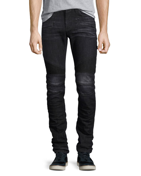 Hudson Men's Blinder Biker Skinny Jeans, Faded Black