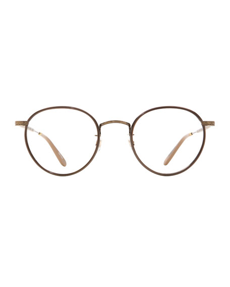 Wilson Round Glasses with Clip-On Sunglasses, Bourbon Tortoise/Matte Spotted Tortoise