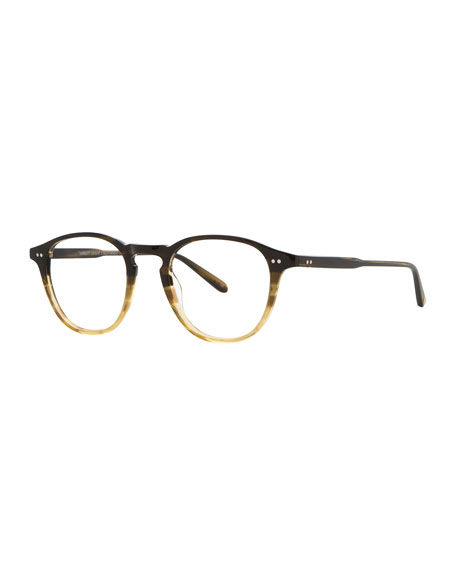 Hampton Square Acetate Optical Frames with Clip-On Sunglasses, Sandalwood Drift