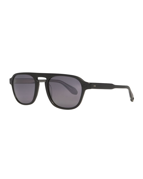 Garrett Leight Men's Grayson Acetate Sunglasses, Black