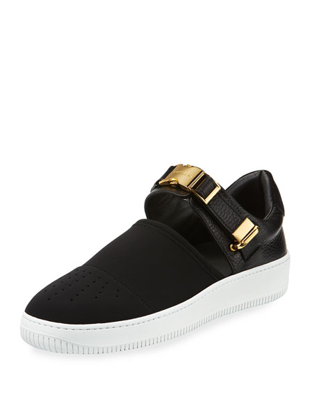 Buscemi 60mm Modern Sport Slip-On Sneaker, Black