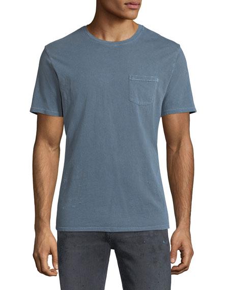 Finley Vintage-Effect Pocket T-Shirt