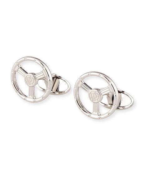 Sterling Silver Steering Wheel Cuff Links