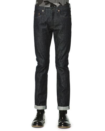 Dark Clean-Wash Denim Jeans