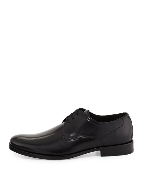 Calf Leather Dress Lace-Up Derby, Black