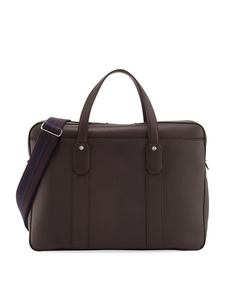 dunhill Hampstead Leather Document Briefcase, Brown