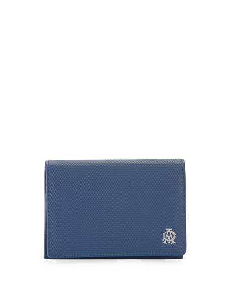Engine Turn Business Card Case, Blue