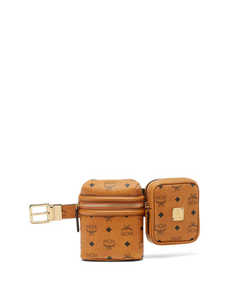 x CR Collection Visetos Two-Bag Belt, Cognac (Brown)