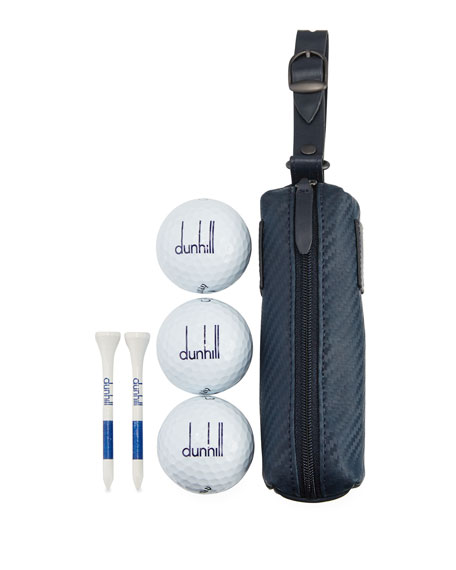 Chassis Leather Golf Links Case, Navy