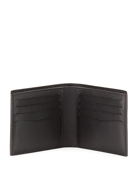Cadogan Leather Billfold Wallet, Black