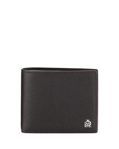 Cadogan Leather Billfold Wallet, Black