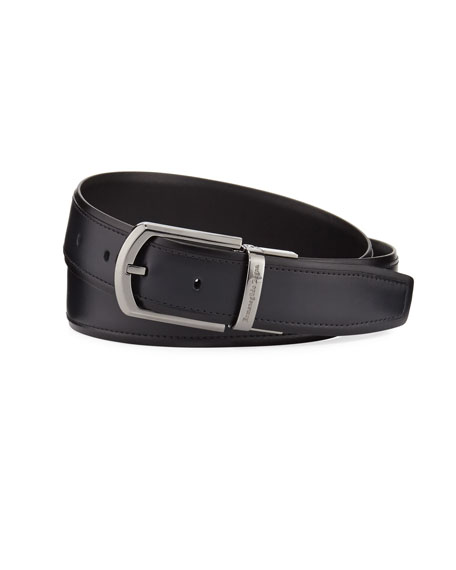 Ermenegildo Zegna Reversible Calf Leather Belt