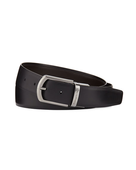Ermenegildo Zegna Reversible Smooth Calf Leather Belt