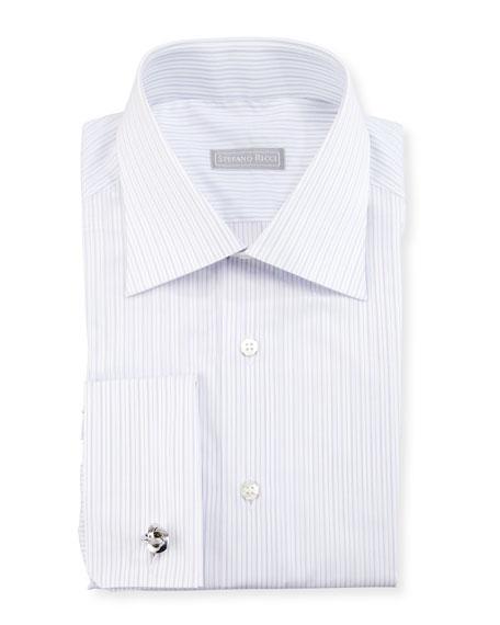 Striped French-Cuff Dress Shirt