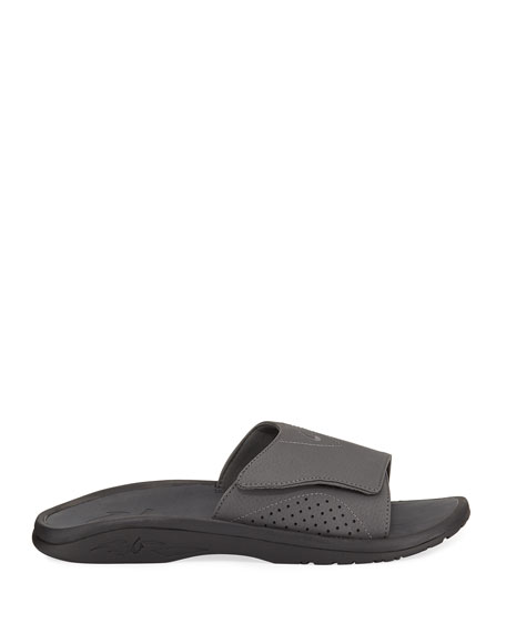 Men's Nalu Grip-Strap Slide Sandals, Black