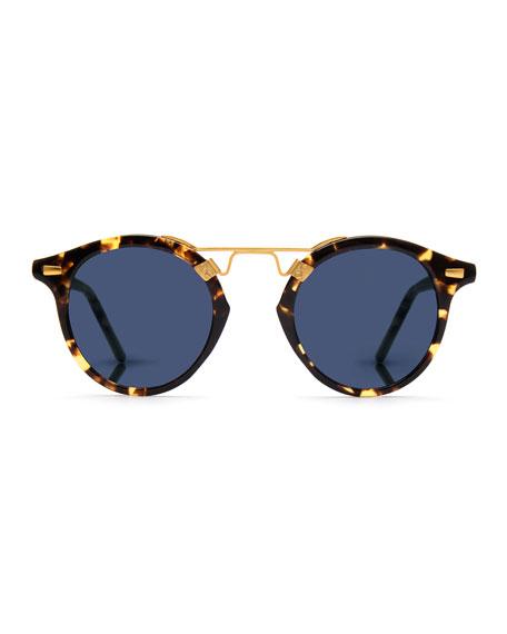 St. Louis Round Polarized Sunglasses, Bengal Blue