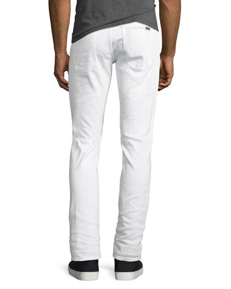 Lean Dean Stretch-Denim Skinny Jeans, White