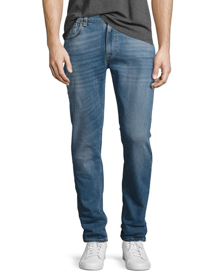 Nudie Lean Dean Stretch-Denim Skinny Jeans, Indigo