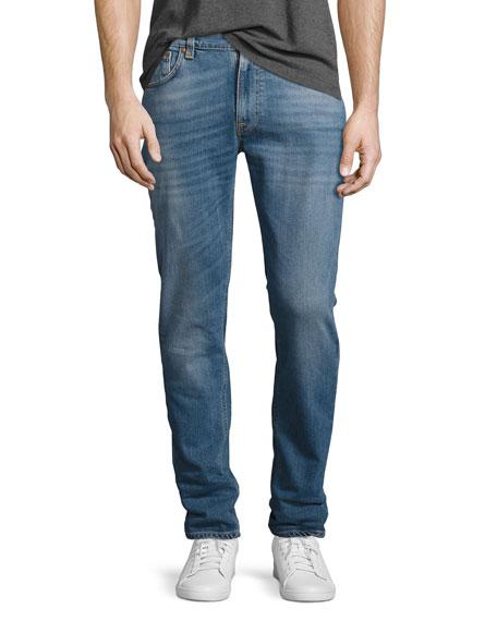 Nudie Lean Dean Stretch-Denim Skinny Jeans, Indigo