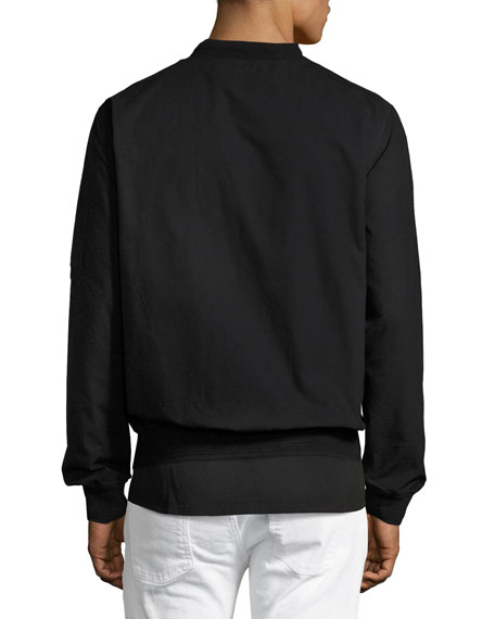 Alexander Ripstop Bomber Jacket, Black