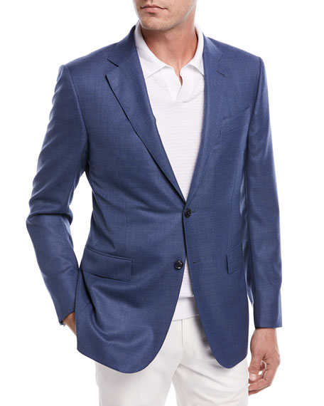 Ermenegildo Zegna Two-Button Wool Blazer