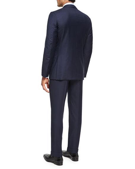 Trofeo® Wool Textured Two-Piece Suit, Navy