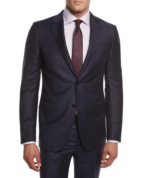 Ermenegildo Zegna Pinstriped Wool Two-Piece Suit