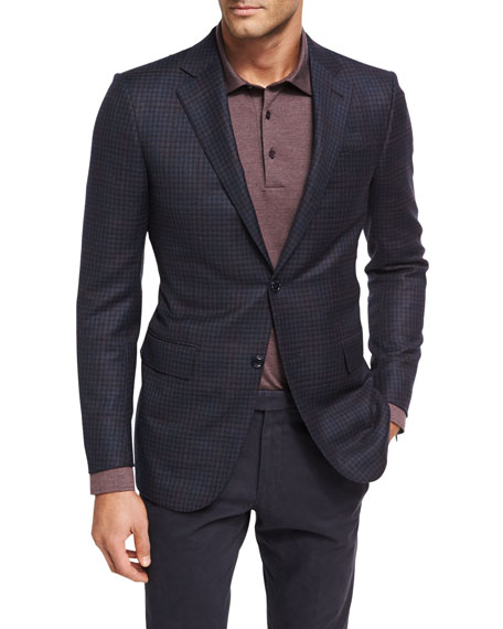 Ermenegildo Zegna Check Trofeo?? Wool Two-Button Sport Coat