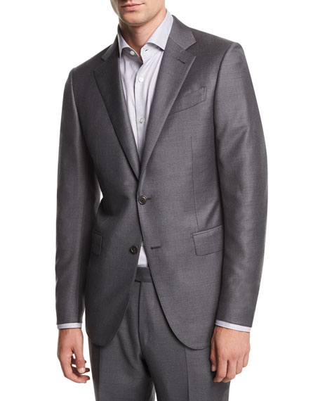 Solid Trofeo® Wool Two-Piece Suit