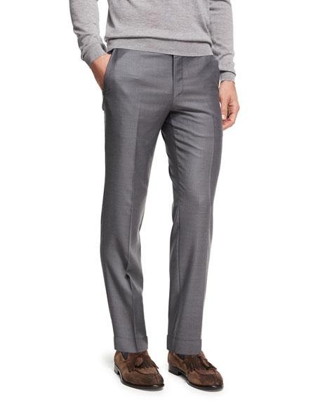 Ermenegildo Zegna Trofeo® Wool Flat-Front Trousers