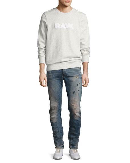 Type C 3D Super Slim Distressed Jeans, Blue